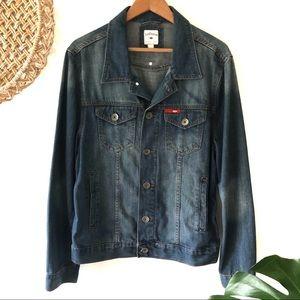 Lee Cooper Mens Denim Jacket size L metal buttons